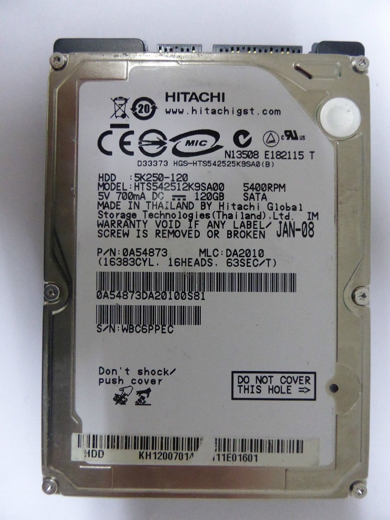 ổ cứng hdd 120gb